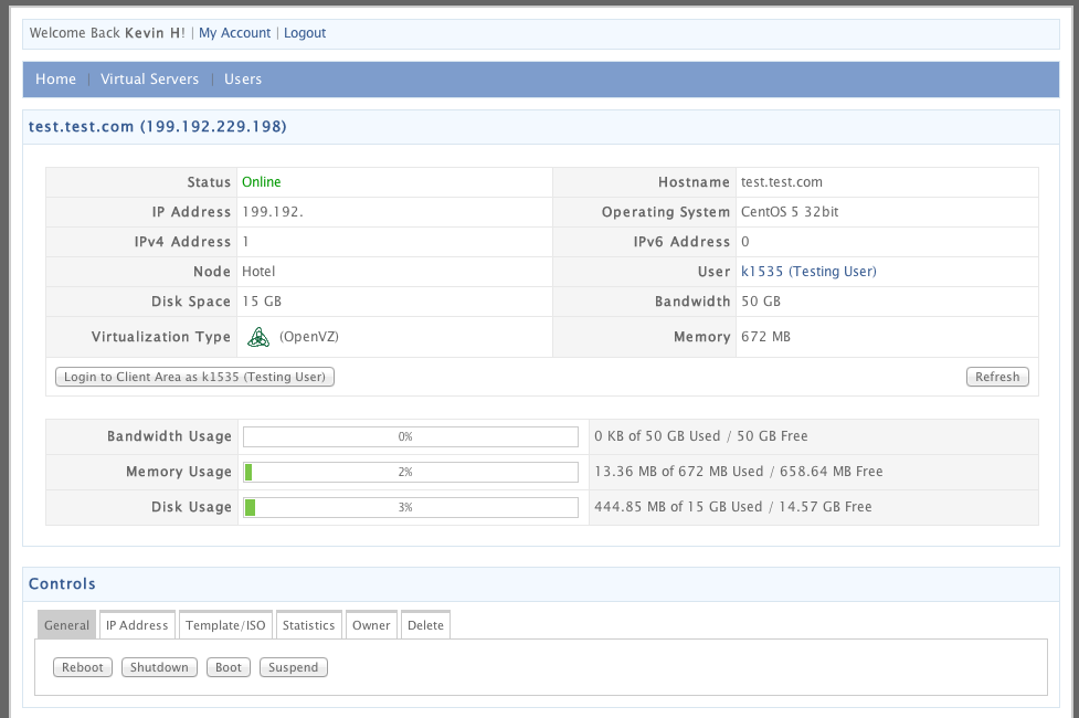 Managing your VPS image